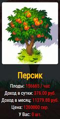 Дерево персик в игре Fruit Trees